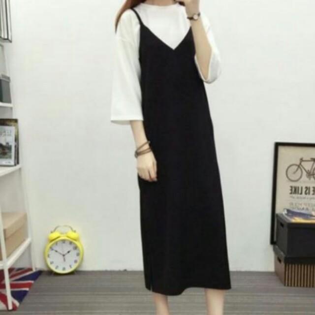 e81a5a301 BIG SALE LAST INSTOCK Korean Slip on Long dress, Women's Fashion ...