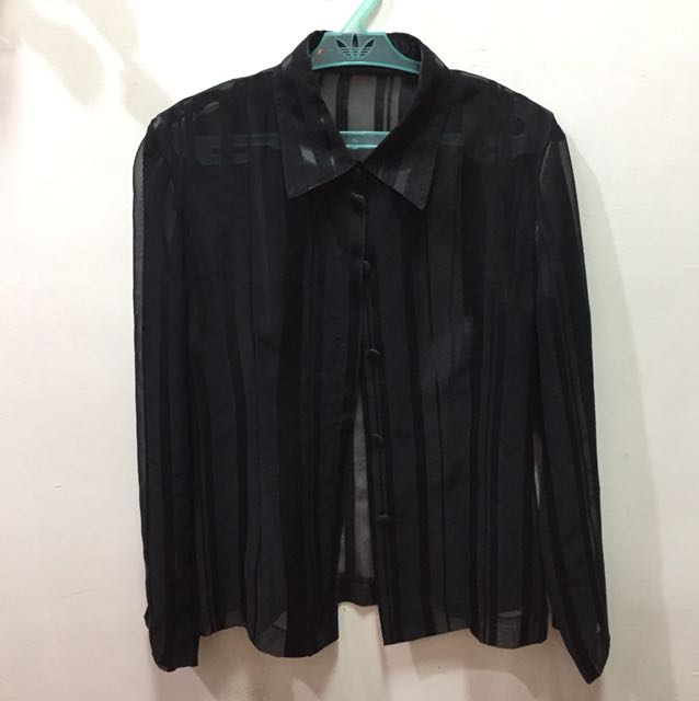 Black Button-up Long-sleeves (Office wear)