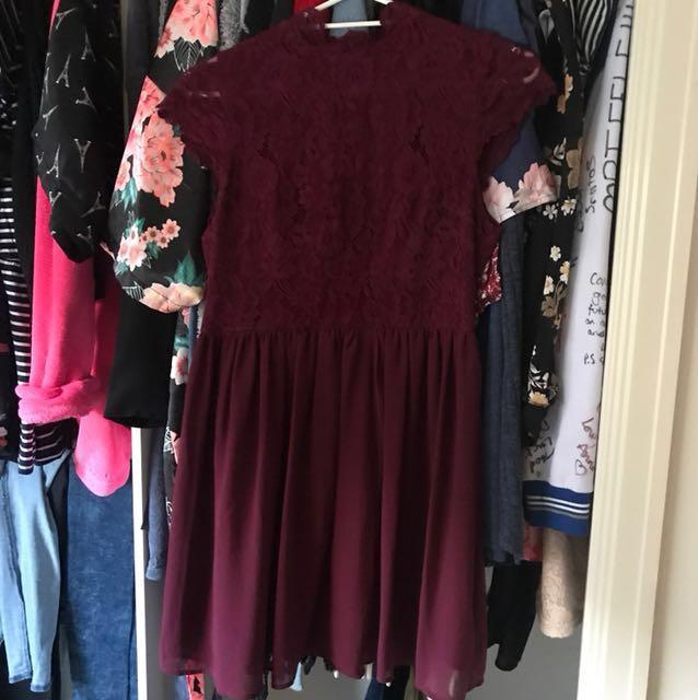 Burgundy dress size 12