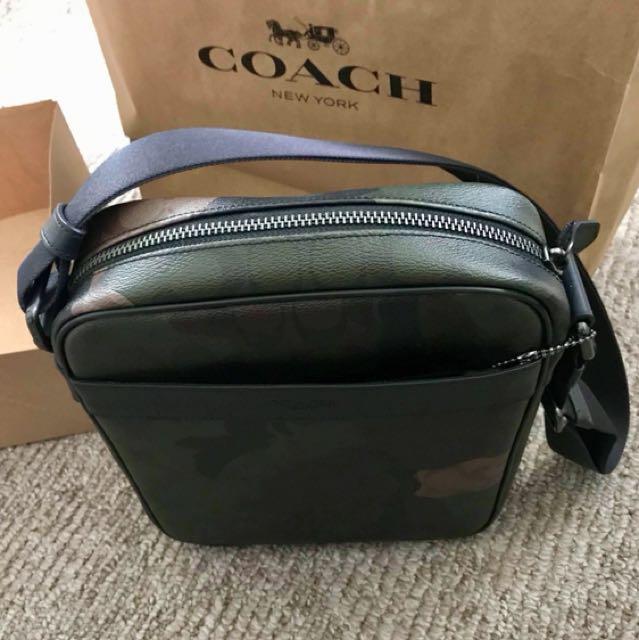 COACH Men's Flight Bag in Signature CAMO