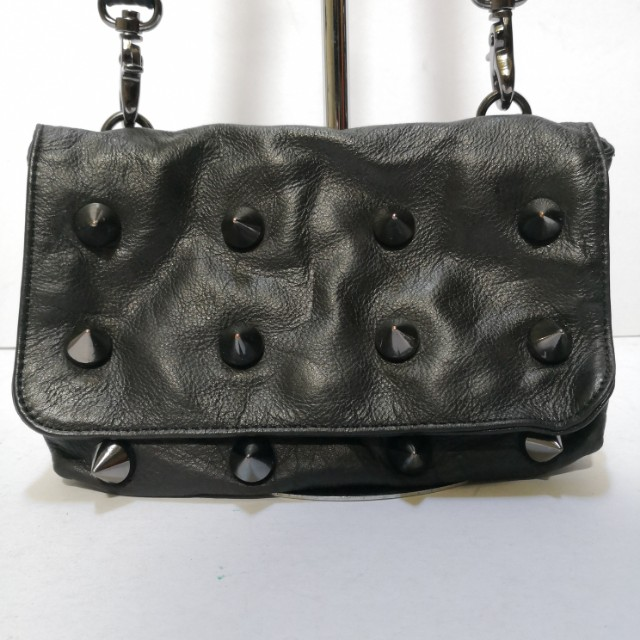 Daad Collezioni Studded Leather Two-way Clutch/ Shoulder Bag