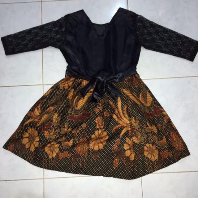 (NEW) Dress Batik Brukat