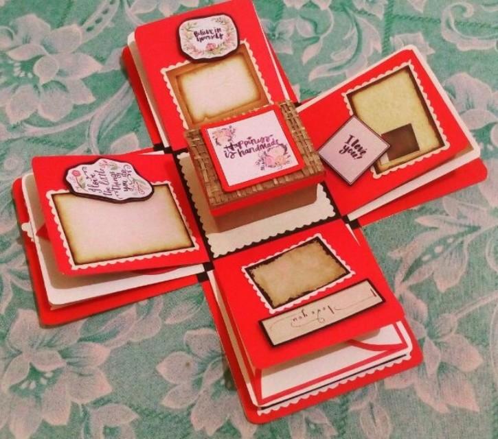 Explosion box / exploding box / gift box #12