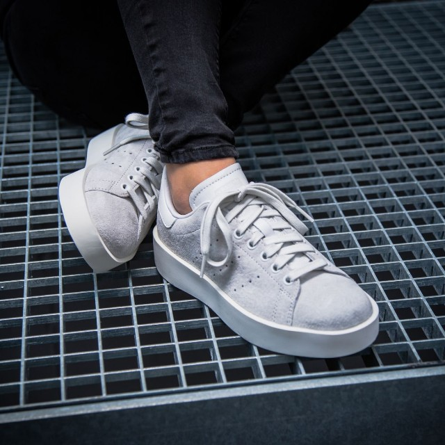 veloce!adidas stan smith in grassetto!) w crystal white & grey, donna