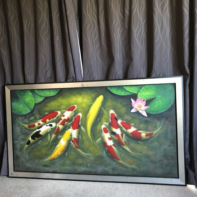 Fish wall frame