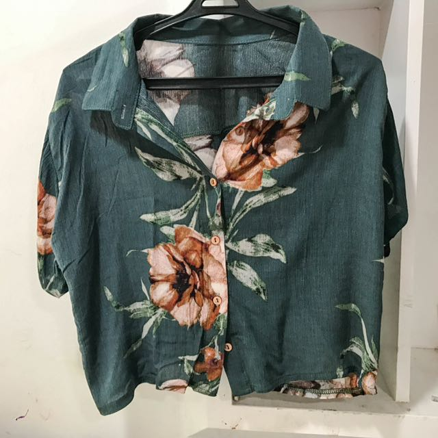 Floral Crop Polo (new)