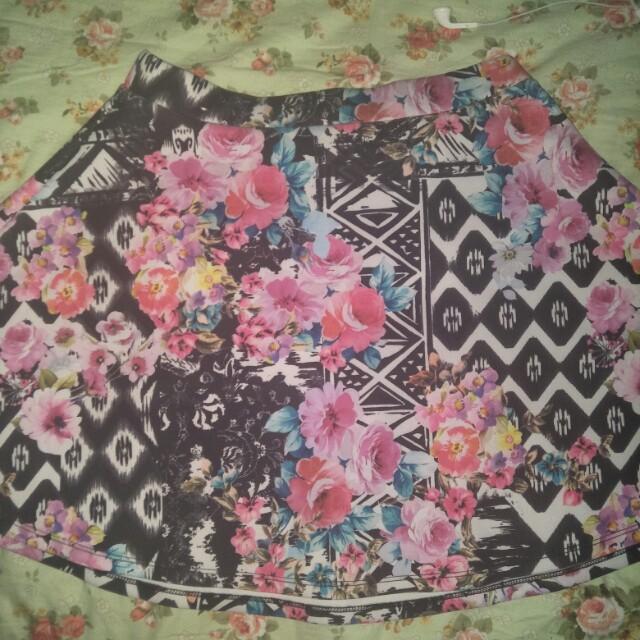 Flower miniskirt