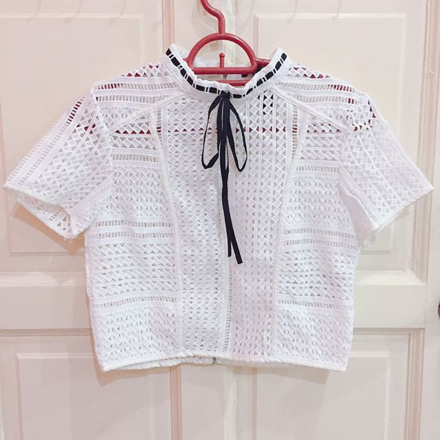 Forever 21 Lace Cropped Top