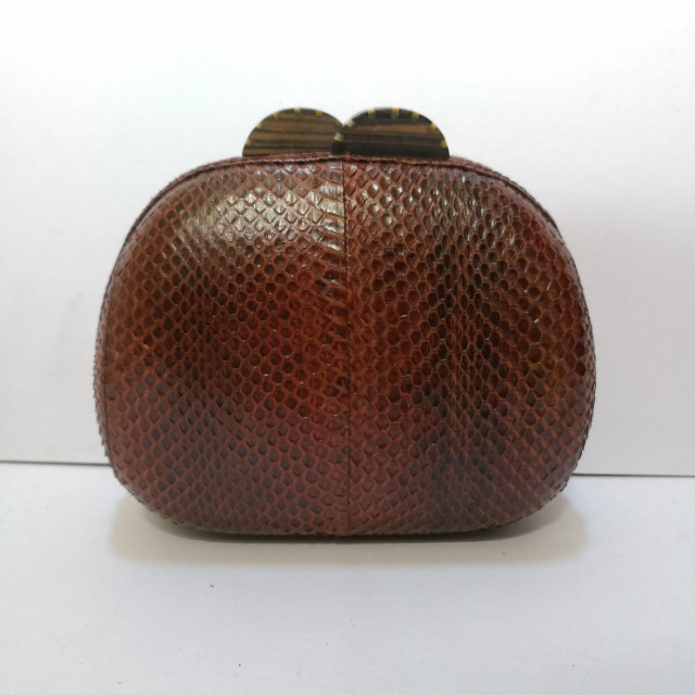 Genuine Snakeskin (Brown) Minaudiere - Almost New