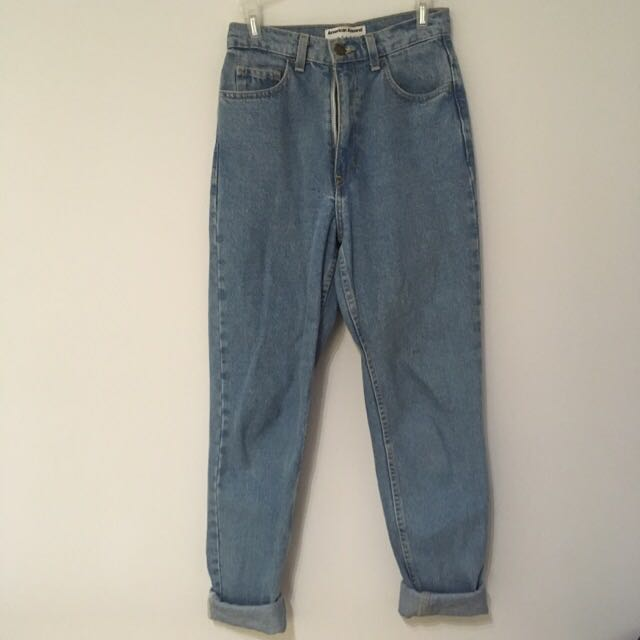 High-waisted American Apparel Jeans
