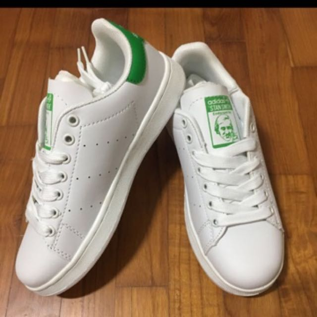 Costoso Travieso Fruta vegetales  Inspired Adidas Stan Smith Green, Women's Fashion, Shoes on Carousell