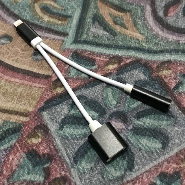 iPhone lightning adaptor (lightning and audio)