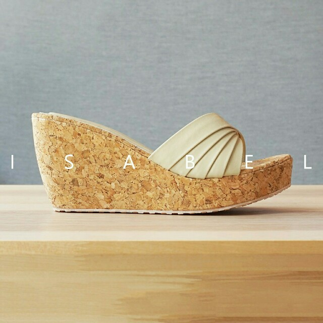 Isabel Sepatu Sandal Wanita MORGAN Wedges Cream Krem 8c72f4a5c5