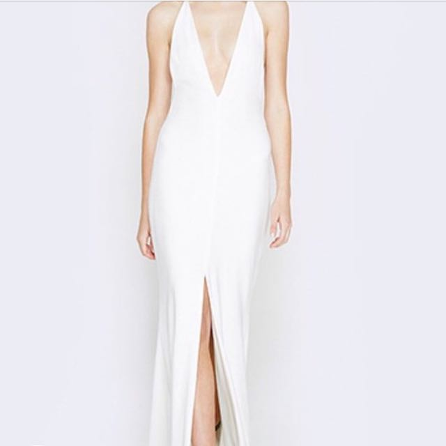 Ivory/white prom dress from fame and partner