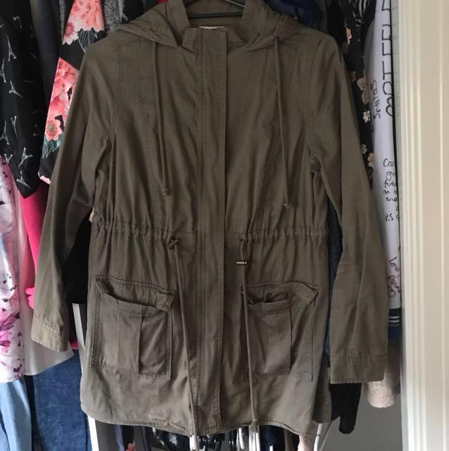 Khaki jacket size 12