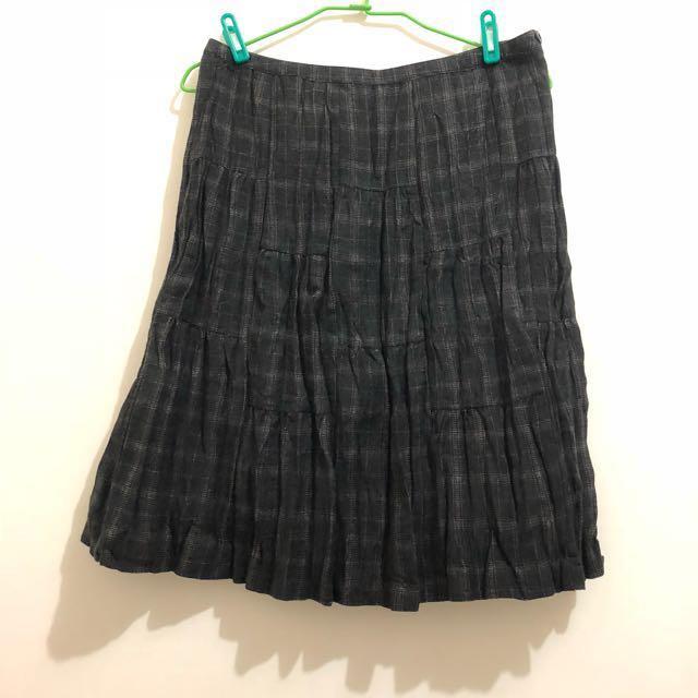 日系品牌毛料裙L號