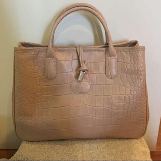 Longchamp Roseau Croco Tote Bag PRICE REDUCTION