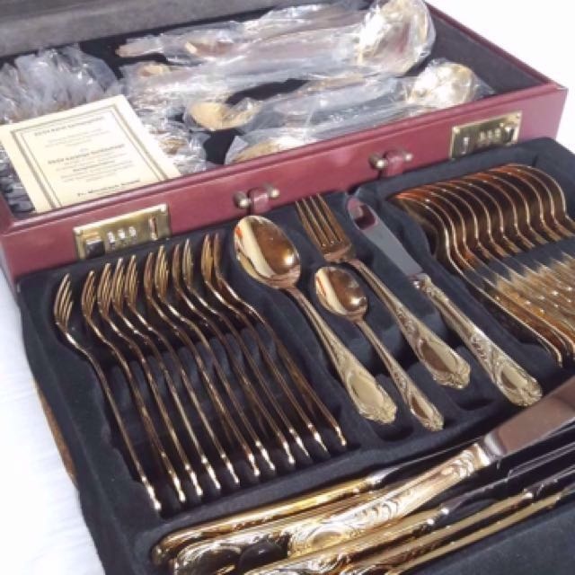 Lowered Price❗️Cutlery (Gold plated)