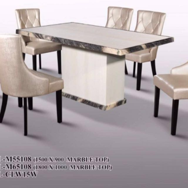 Marble Dining Table And Chairs Furniture Tables Chairs On Carousell