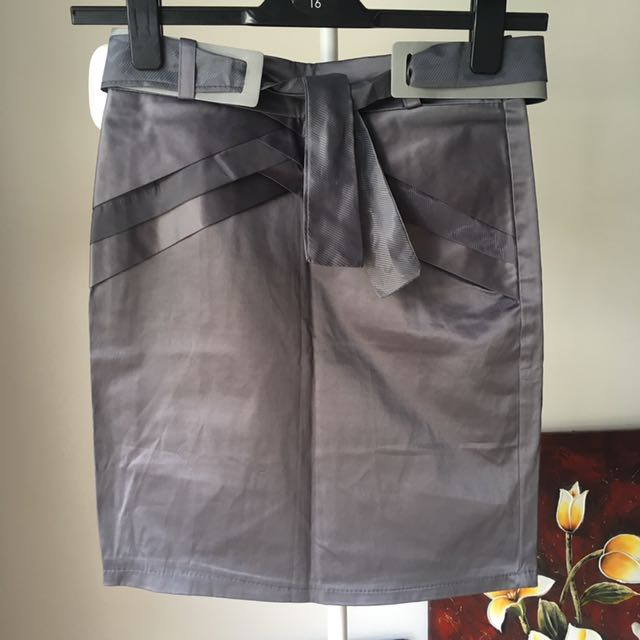 Marc Jacobs Grey Silver Pencil Skirt