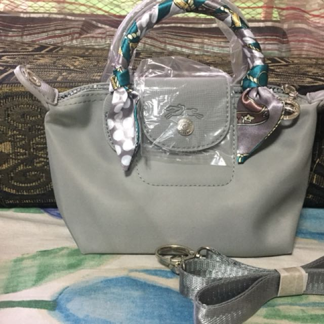0275e3850101 Mini Inspired Longchamp bag with twilly. Very nice in person ...