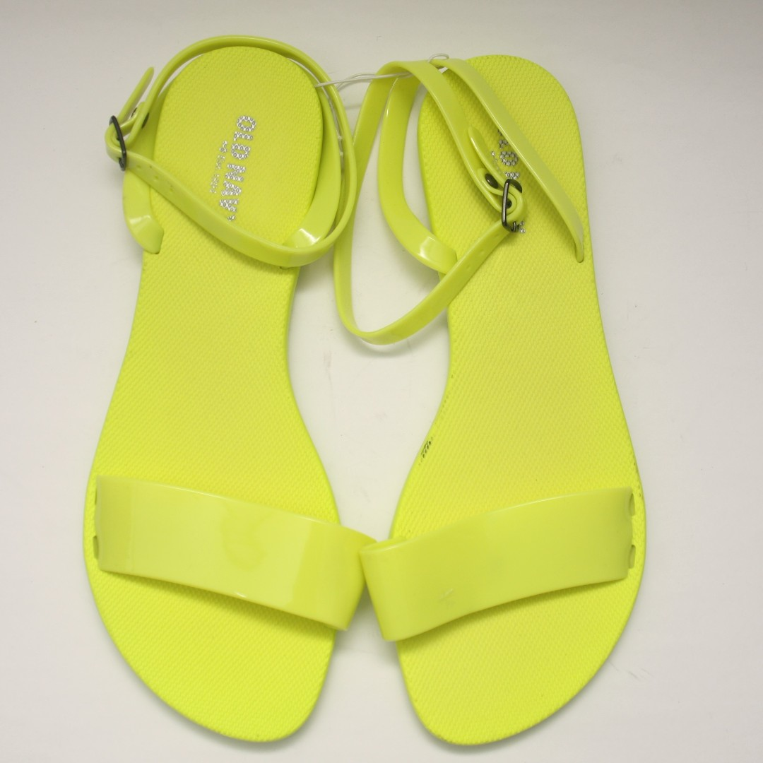 5684397e4e91 NEW! OLD NAVY Neon Jelly Sandals (Yellow Green)