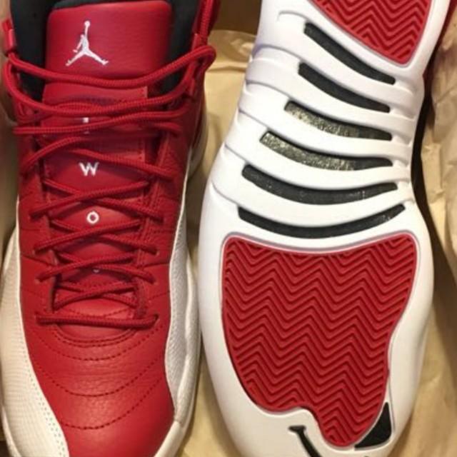 half off eeb7d 1eae3 Nike air jordan 12 retro BG 紅白 ( aj 11 vapormaxnmd ultra boost uncaged  gucci lv bape milo )