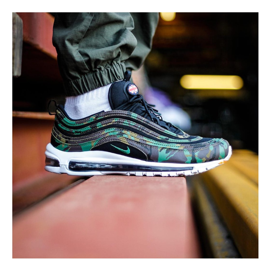 NIKE AIR MAX 97 PREMIUM COUNTRY CAMO UK SHOES – RAW UMBER/FORTRESS  GREEN/BLACK/EARTH on Carousell