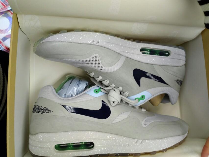 Nike x Clot Air max 1 clot kiss of death 2, Grey US9.5