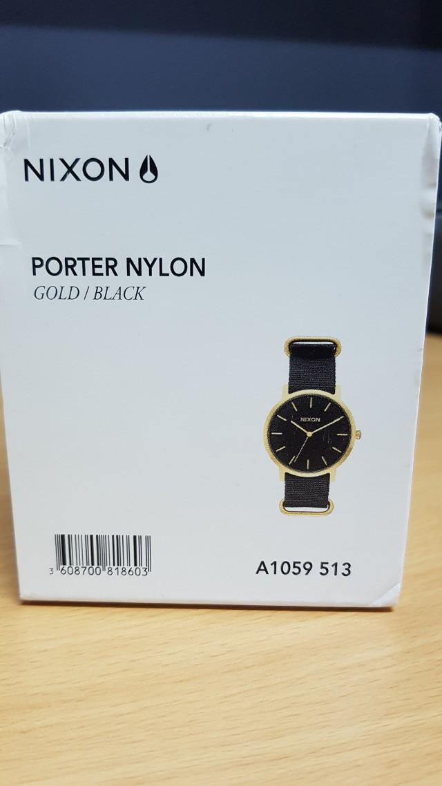 Nixon Porter Nylon watch Gold/Black