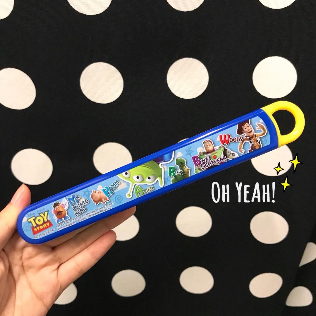 :::OH YEAH!:::『現貨』日本🇯🇵玩具總動員環保筷 Toy Story 迪士尼 抽屜式環保餐具 生日禮物
