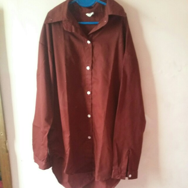 origin dark maroon long t-shirt