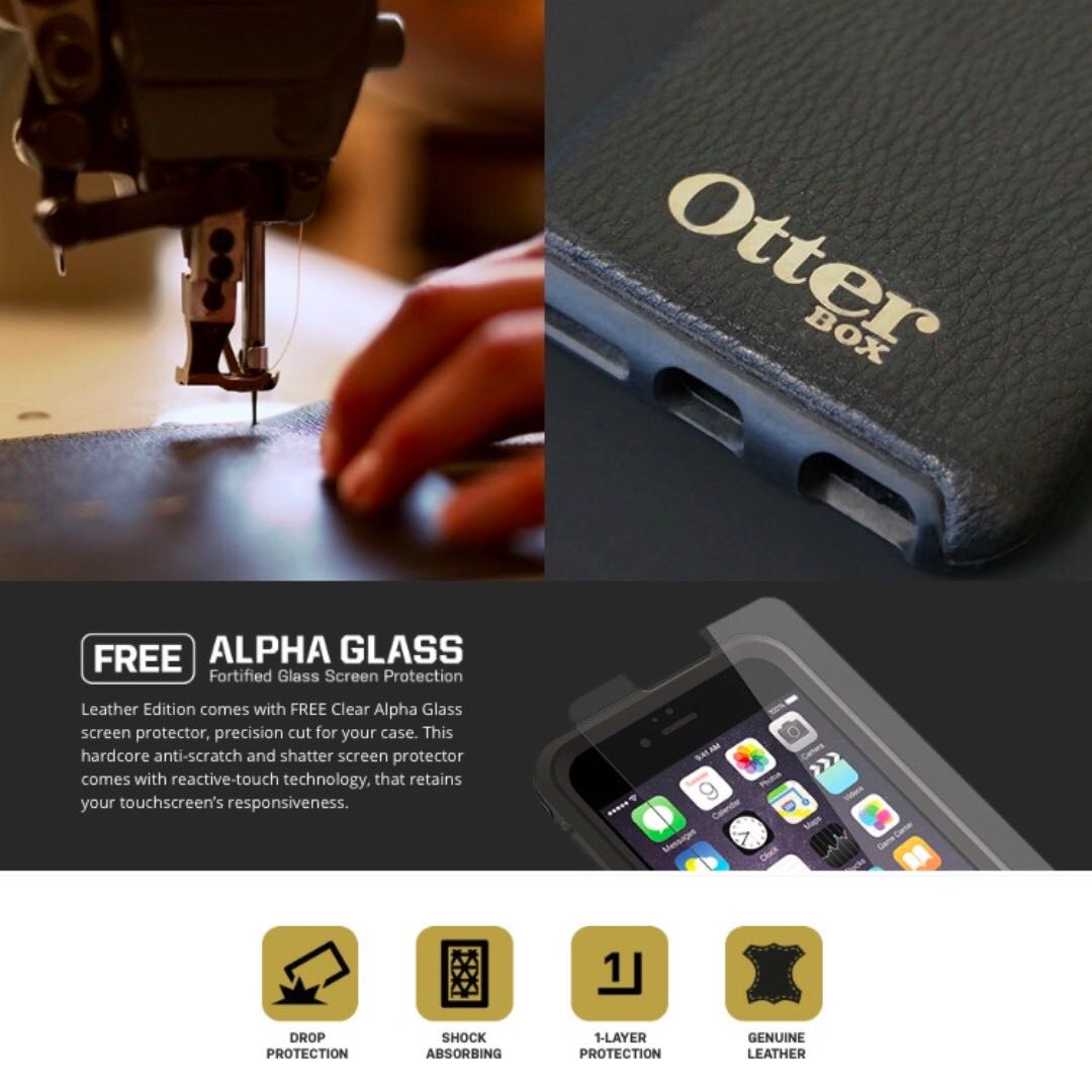 Otterbox Symmetry Iphone 6 6s Case Black Leather Mobiles My For Clear Tablets Mobile Tablet Accessories On Carousell