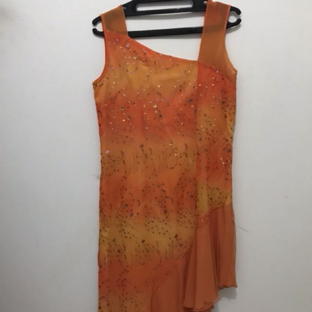 Party Orange Gown