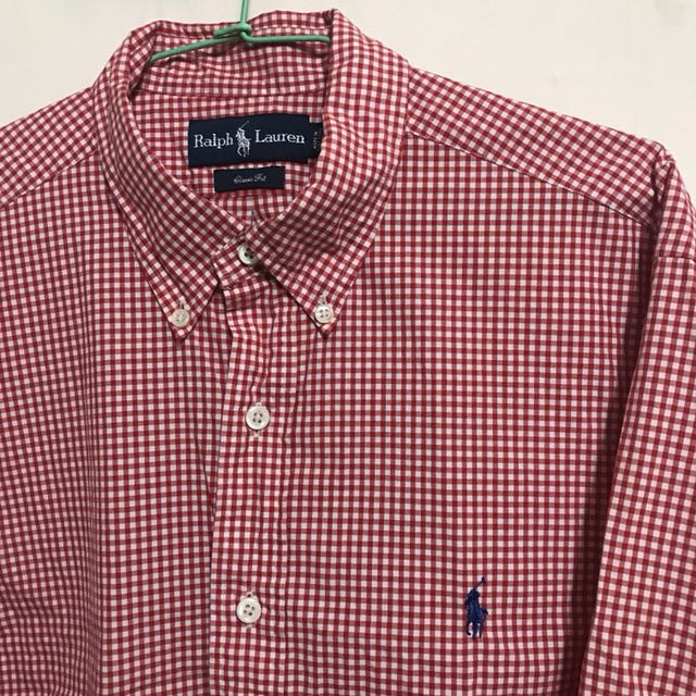 Polo Ralph Lauren 英倫紅格襯衫L號(正品)