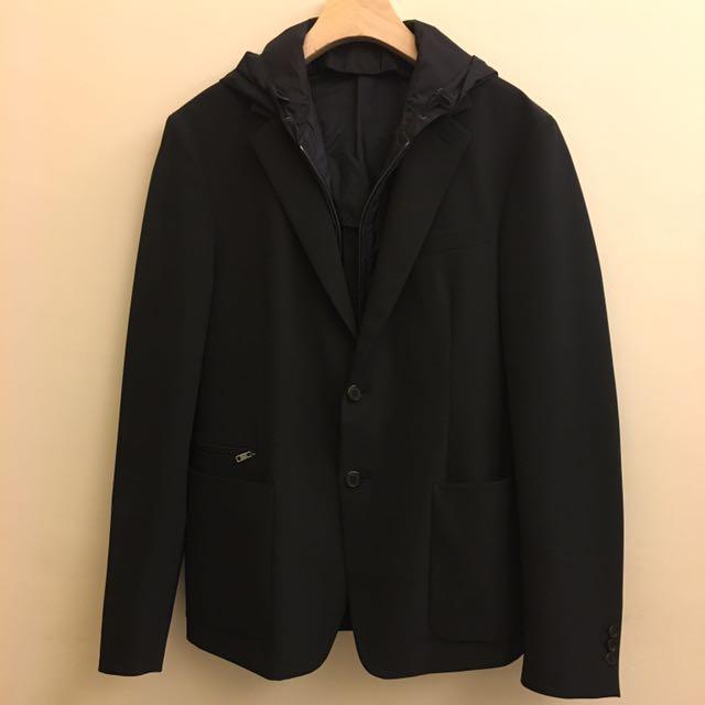 Prada假二件式休閒西裝外套