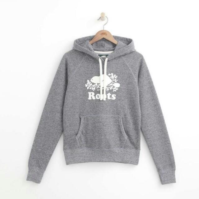 Roots 全新正品 經典 帽T 白芝麻 專櫃售價2780
