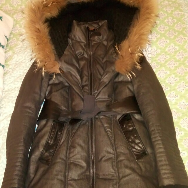 Rudsak grey down jacket coat size XS