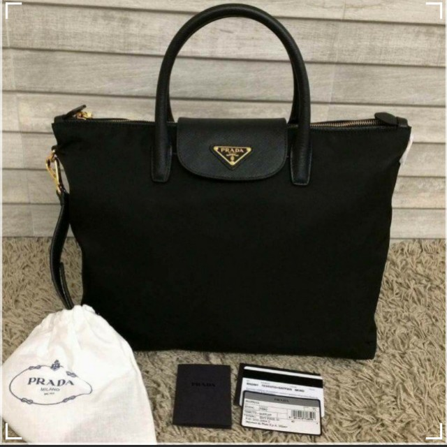 8e964d49c1e4 ... denmark sales original prada bn2541 tessuto nylon convertible tote bag  black luxury bags wallets on carousell