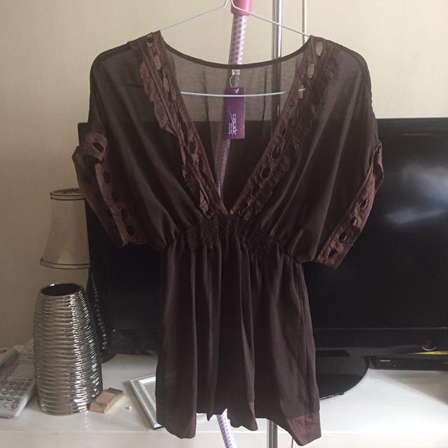 See Through Blouse Wanita Size L New