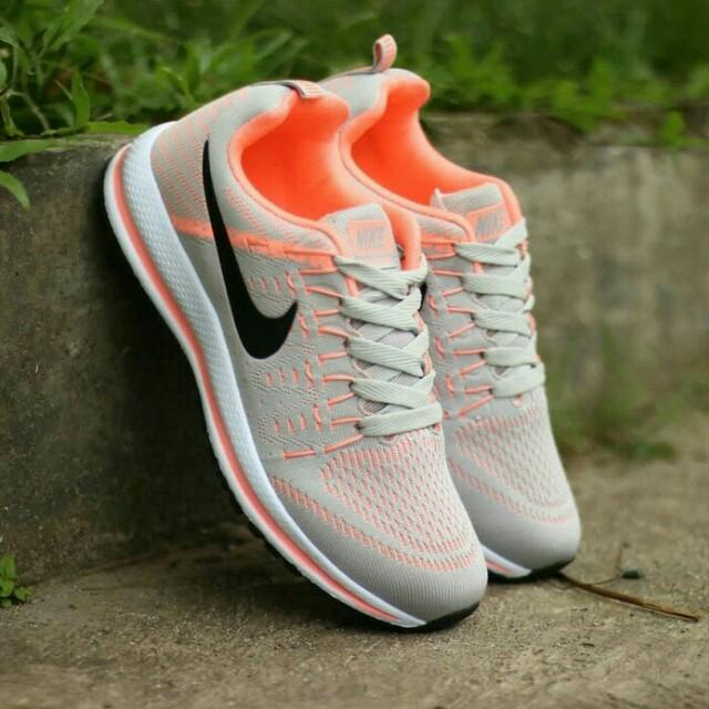 Sepatu sneakers nike zoom pegasus abu peach women wanita f243f4d247