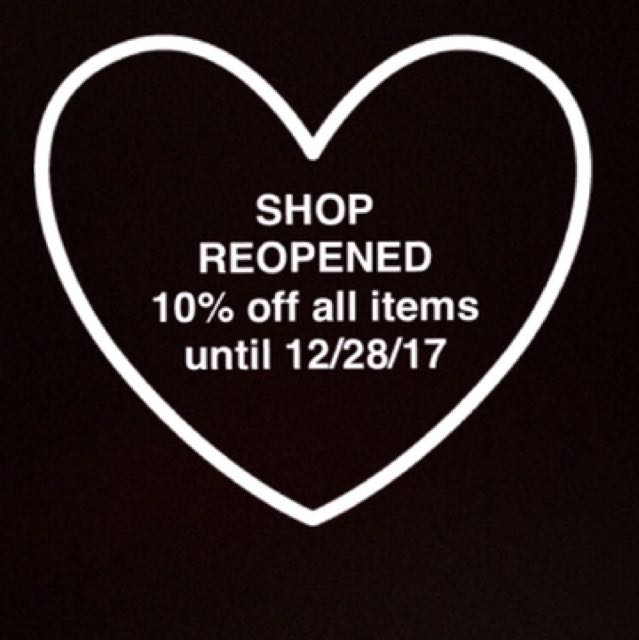 SHOP REOPENS
