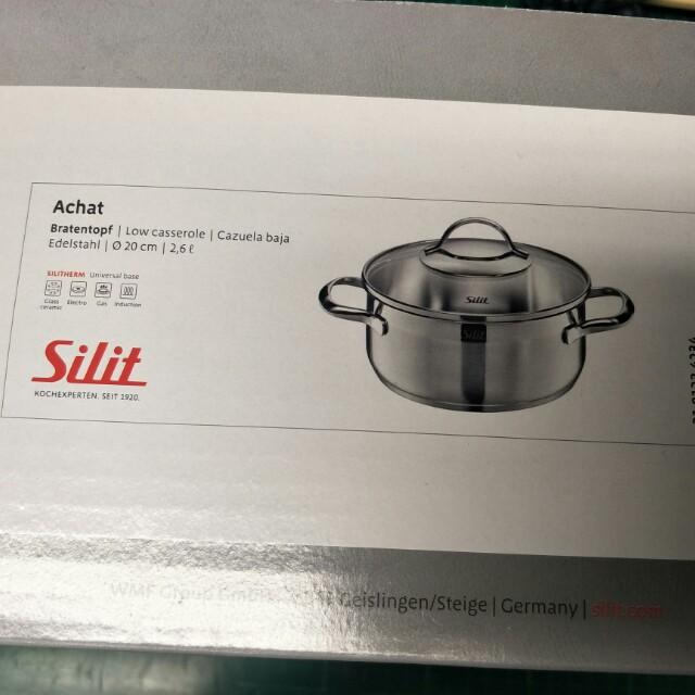 全新 德國品牌 Silit Achat 20cm 附蓋湯(燉)鍋