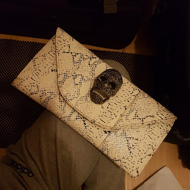 Skull Clutch Alexander Mcqueen Inspired