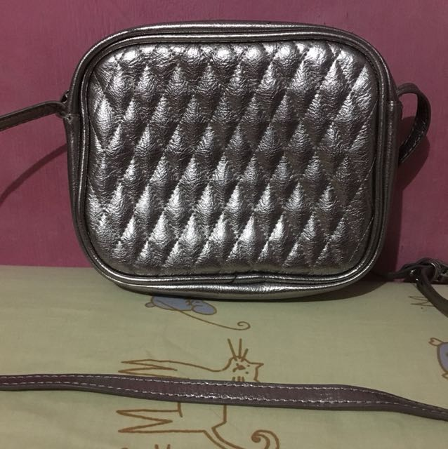Stradivarius Silver Bag