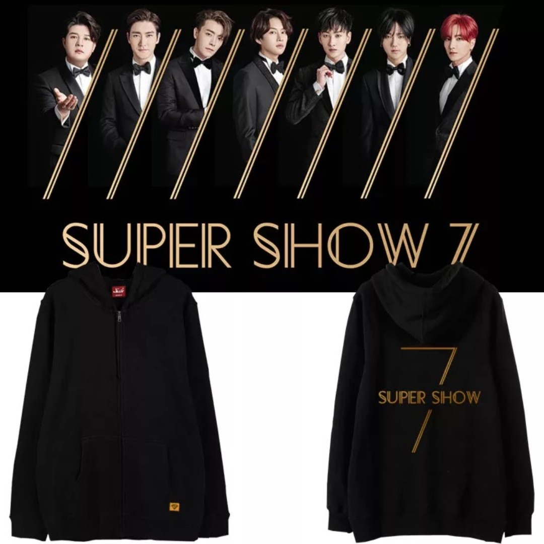 Super Junior Super Show 7 Zip Up Hoodie, Entertainment, K