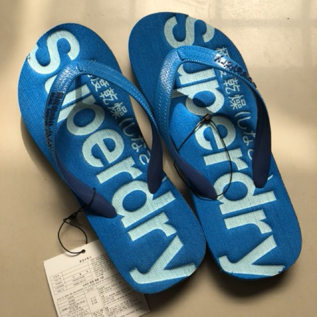 全新superdry拖鞋