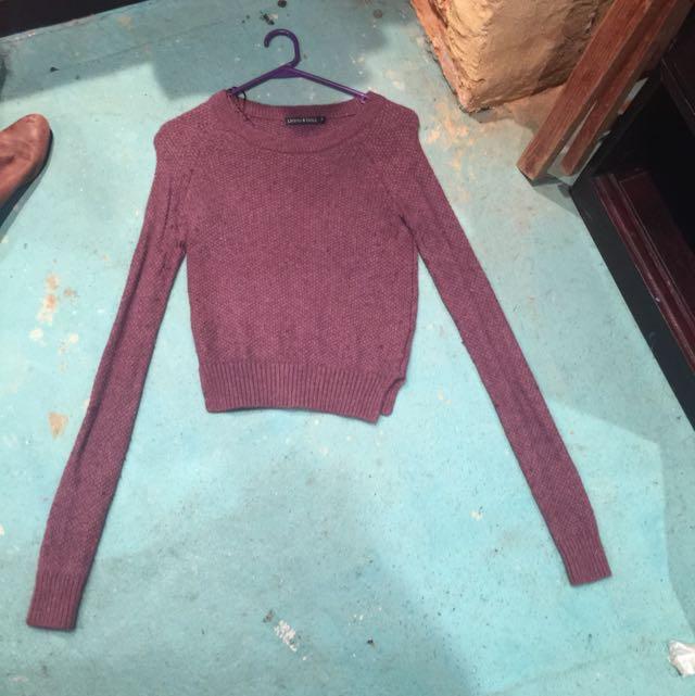 Sz SMALL Burgundy Knit. 🖇