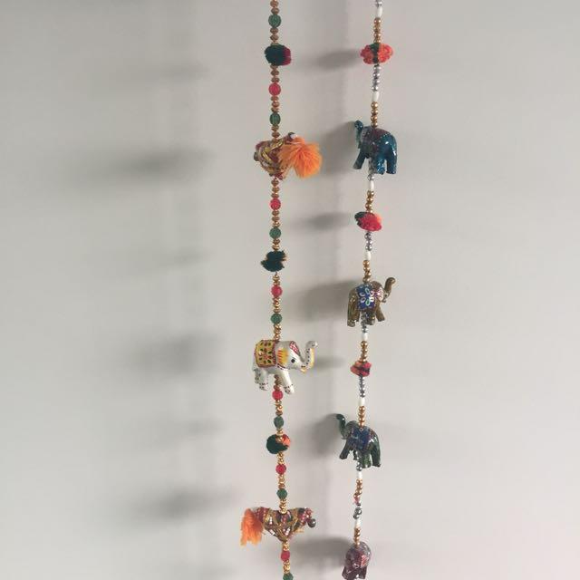 Thai elephant wall hanging