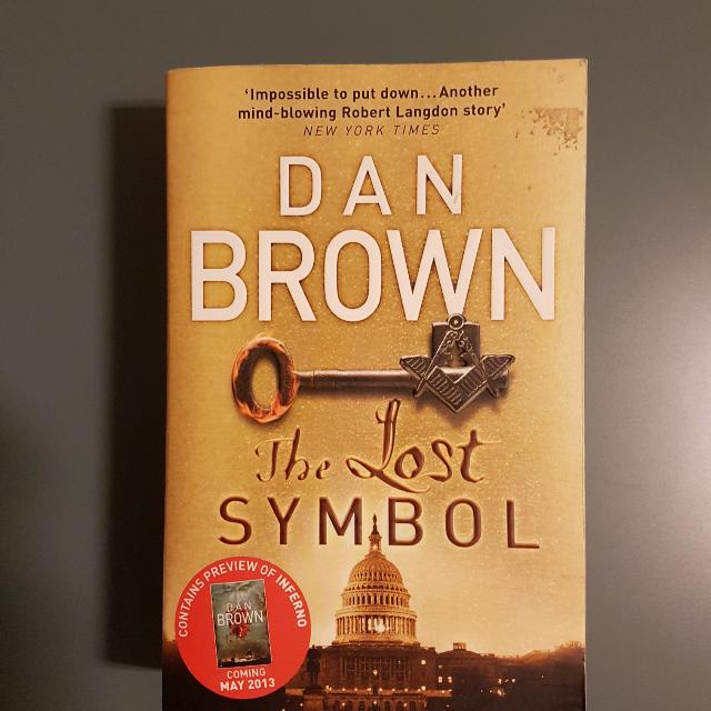 The Lost Symbol Dan Brown Books Stationery Fiction On Carousell